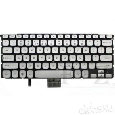 Keyboard DELL XPS 14Z 15Z L412Z L512Z L511Z / SS8, PK130JN1A00, R22XN (Silver Backlit Tanpa Frame)
