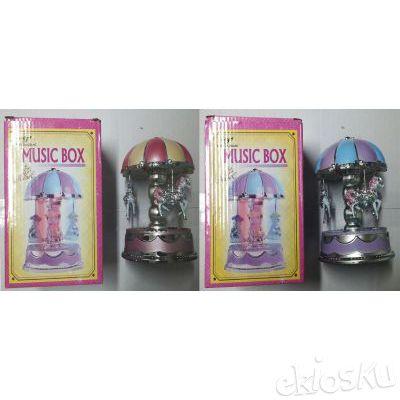 Kotak Musik Komedi Putar (musik+Lampu) - Carousel Music Box
