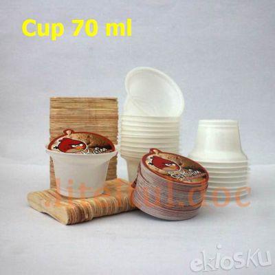 Cup + Tutup + Sendok (70ml/100pcs)