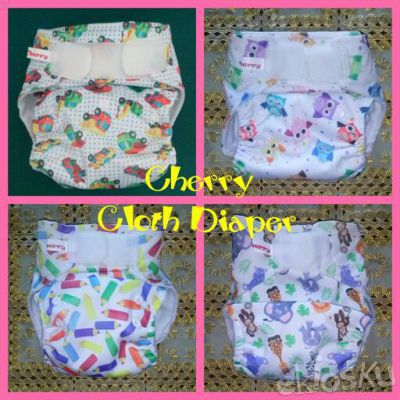 Cherry Pocket Diaper Outer PUL