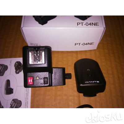 Wireless Flash Trigger PT-04NE with umbrella holder