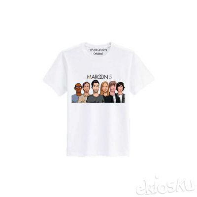 t shirt pria wanita/kaos pria wanita( maroon 5 lover)t shirt fashion sz graphics