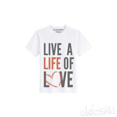t shirt pria wanita/kaos pria wanita(live of love) t shirt fashion/sz graphics