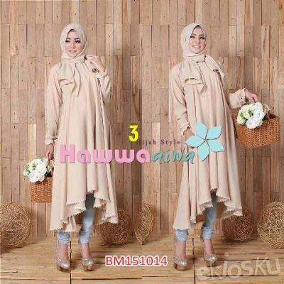 BM151014 Hijab Aiwa (2in1) Baju Gamis Wanita Modern