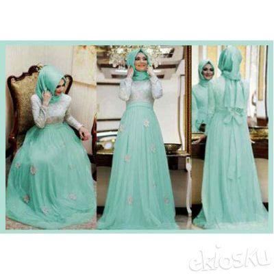 905131 Baju Muslim Busana gamis Wanita