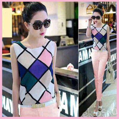 701560 Setelan Celana Wanita Gaya Korea cantik
