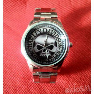 Jam Tangan 3D Skull Harley Logo Quartz Metal