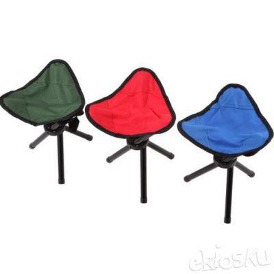 Kursi Duduk Lipat Sutradara bentuk Segitiga 3 kaki Unik Foldable Chair