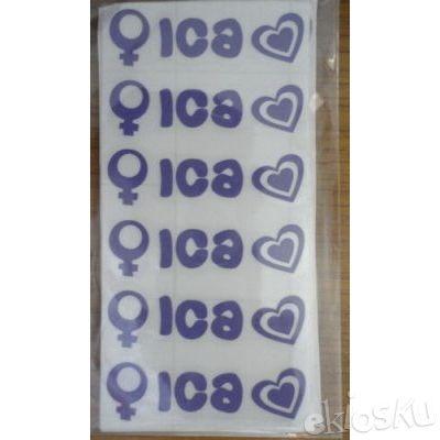 Sticker Nama Mini / Label Nama Mini / Cutting Sticker (Ica)