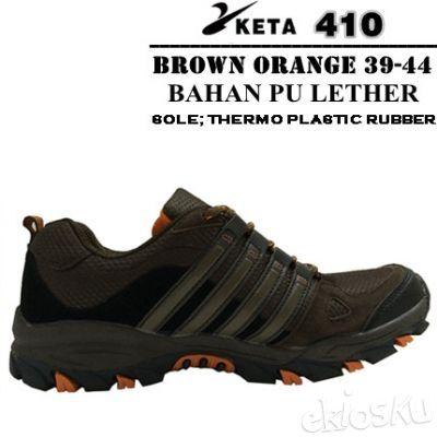 Sepatu Gunung/Trekking/Hiking/Outdoor Merek KETA Kode 410 Brown Orange