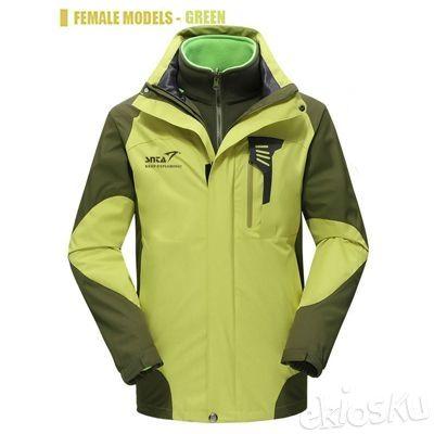 Jaket Gunung/Hiking Wanita SNTA 6602 Green Waterproof