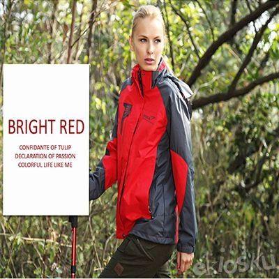 Jaket Gunung/Hiking/Outdoor Wanita SNTA 6602 Red Waterproof