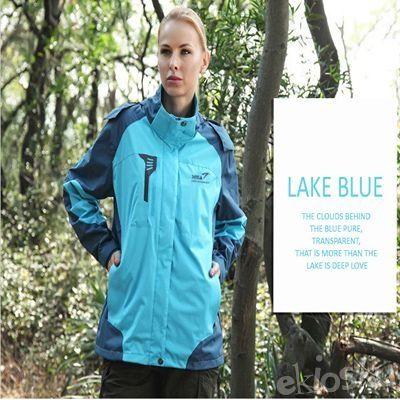 Jaket Gunung/Hiking/Outdoor Wanita SNTA 6602 Blue Waterproof