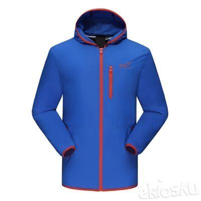 Jaket Gunung/Hiking/Outdoor SNTA 8801 Blue/Orange Waterproof