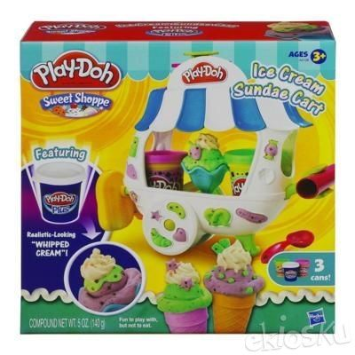 Cetakan PlayDoh Ice Cream Sundee Cart Play Doh ORIGINAL (BUKAN FunDoh)