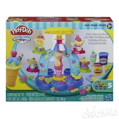 Cetakan Play-Doh Sweet Shoppe Swirl and Scoop Ice Cream Playdoh ORI