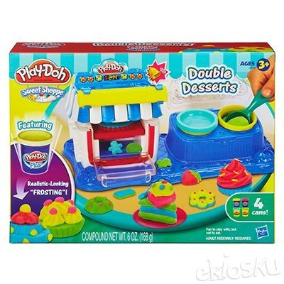 Cetakan PlayDoh Double Dessert Play Doh ORIGINAL (BUKAN Fun Doh)