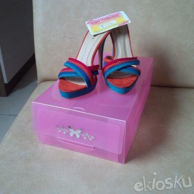 (1set=4pcs) Kotak Sepatu Transparant - Warna Warni/Shoes Box/Clear Box