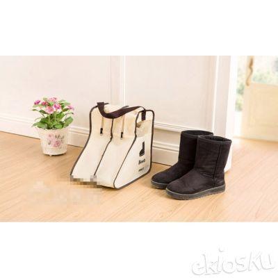 (PENDEK) Tas Andi Debu Tempat Simpan Sepatu Boots Dust Cover Olah Raga