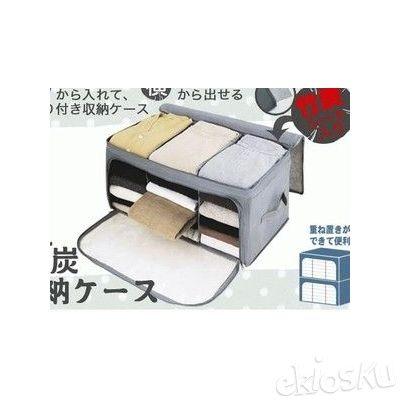 Storage Box Import 3 Sekat Buka Depan dan Atas/Bamboo Storage