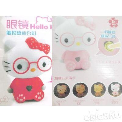 Lampu Tidur Hello Kitty Full Body Kacamata Touch Love Koleksi Barang