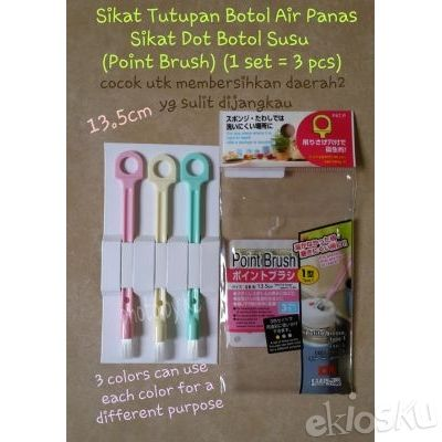 (3pcs) Sikat Tutupan Botol Air Panas/Sikat Dot/Point Brush(HighQuality)