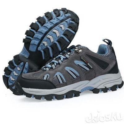 Sepatu SNTA 602 Wanita Hiking/Outdoor/Olahraga Warna Grey/Blue