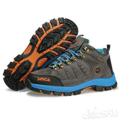 Sepatu SNTA 607 Wanita Hiking/Outdoor/Olahraga Warna Grey/LtBlue Waterproof