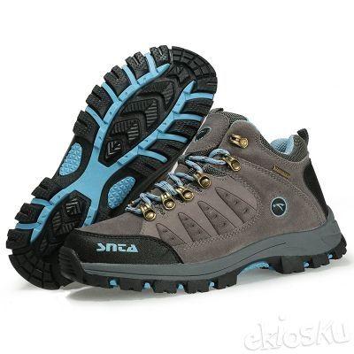 Sepatu SNTA 607 Wanita Hiking/Outdoor/Olahraga Warna Grey/Blue Waterproof