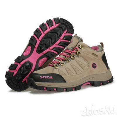 Sepatu SNTA 607 Wanita Hiking/Outdoor/Olahraga Warna Beige/Pink Waterproof