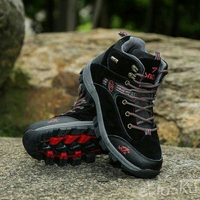 Sepatu SNTA 471 Fashion/Hiking/Outdoor Model Pria Warna Black/Red