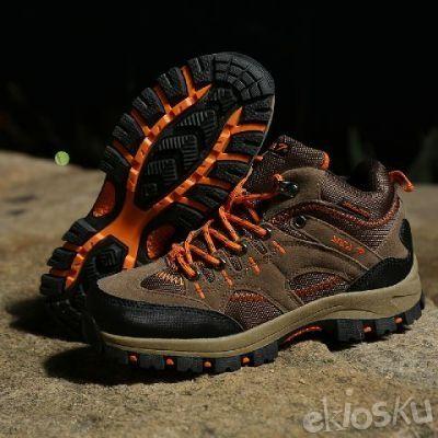 Sepatu SNTA 603 Fashion/Hiking/Outdoor Model Wanita Warna Brown/Orange