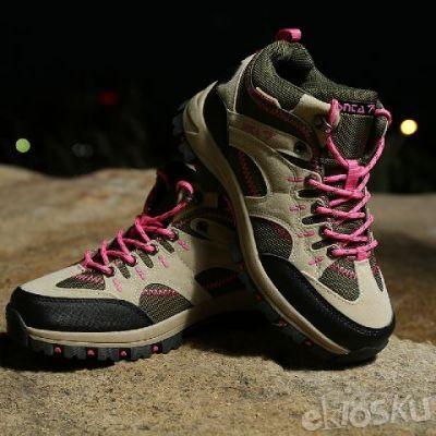 Sepatu SNTA 603 Fashion/Hiking/Outdoor Model Wanita Warna Beige/Pink