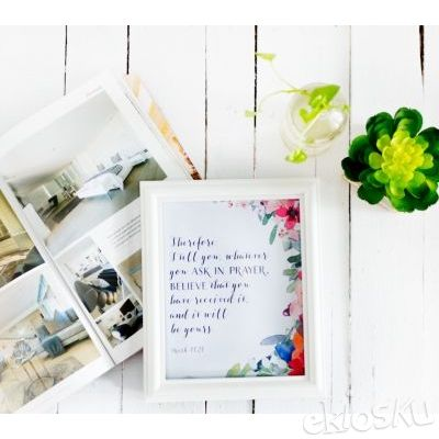 Frame / Bingkai Foto Elegant White