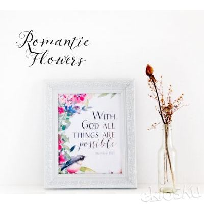 Frame / Bingkai Foto Romantic Flower