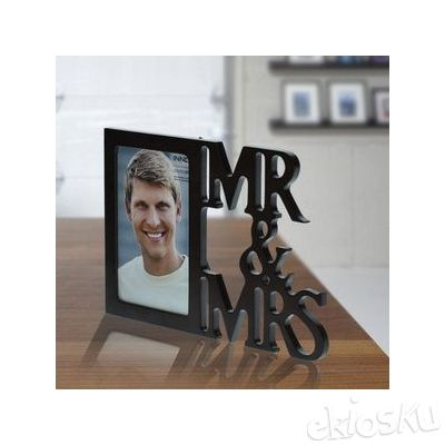 Photo Frame Word Photo Frame Mr & Mrs 4x6 Dark walnut (07920)