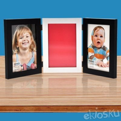 Photo Frame Winston 4x6 Trp Black/white/black (07844)