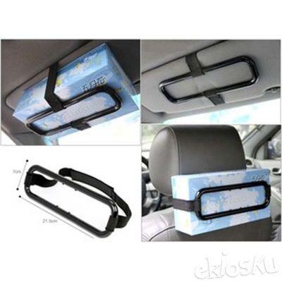 Smart Car Tissue Holder Penjepit Jepit Kotak Tisu Mobil Otomotif Unik