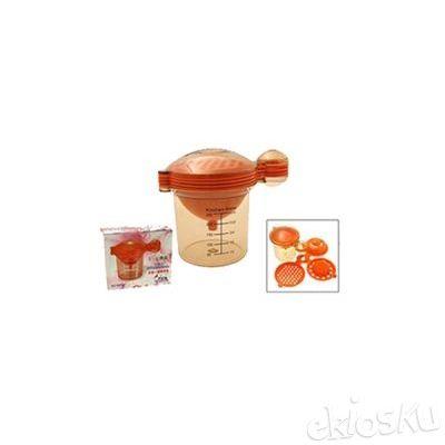 Kitchen Mate Set 5 in 1 Peras Jeruk Pisah Telur Corong Parutan Wadah U