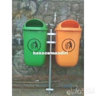 tong sampah plastik HDPE 2 pilah