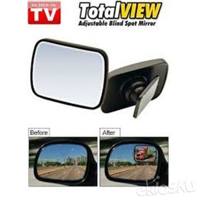 Total View Mirror Spion Mobil Tambahan Kaca Samping Akesoris Unik Kado