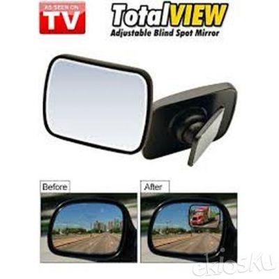 Total View Mirror Spion Mobil Tambahan Kaca Samping Akesoris Unik Kado