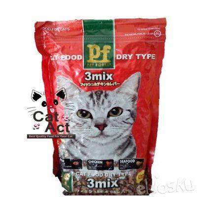 Makanan Kucing Murah Pet Forest 3 Mix - Repack 500 gram