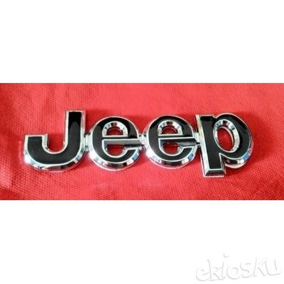 Sticker Emblem Jeep Letter Metal