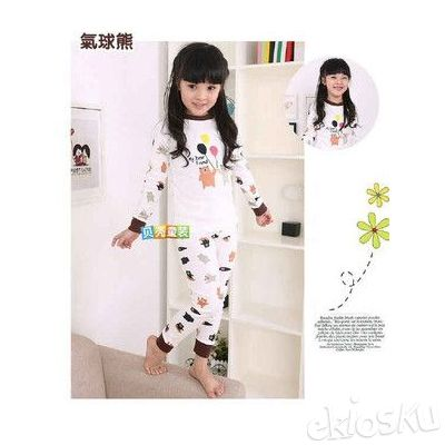 STKD72 - Setelan Anak Teddy Bear and Ballon