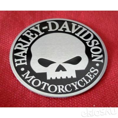 Sticker Decal Skull Harley Aluminium