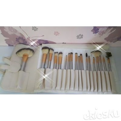 kuas make up , kuas set , brushes set isi 18 bahan bulu kuda model dompet lipat
