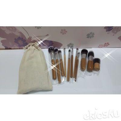kuas make up , kuas set , brushes set isi 11 bahan bulu sintetis kualitas tinggi
