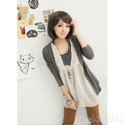 Blouse Korea 3 pieces Gray