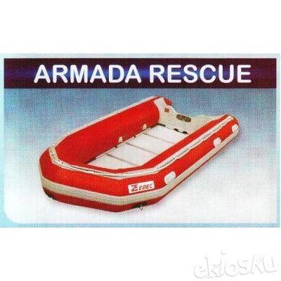 Perahu karet / rubber boat Zebec armada rescue 450AR